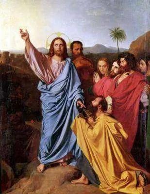 ingres2c_jean_-_jesus_returning_the_keys_to_st-_peter_-_1820