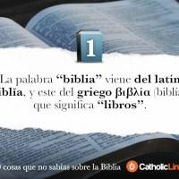 10 cosas que no sabías sobre la Biblia