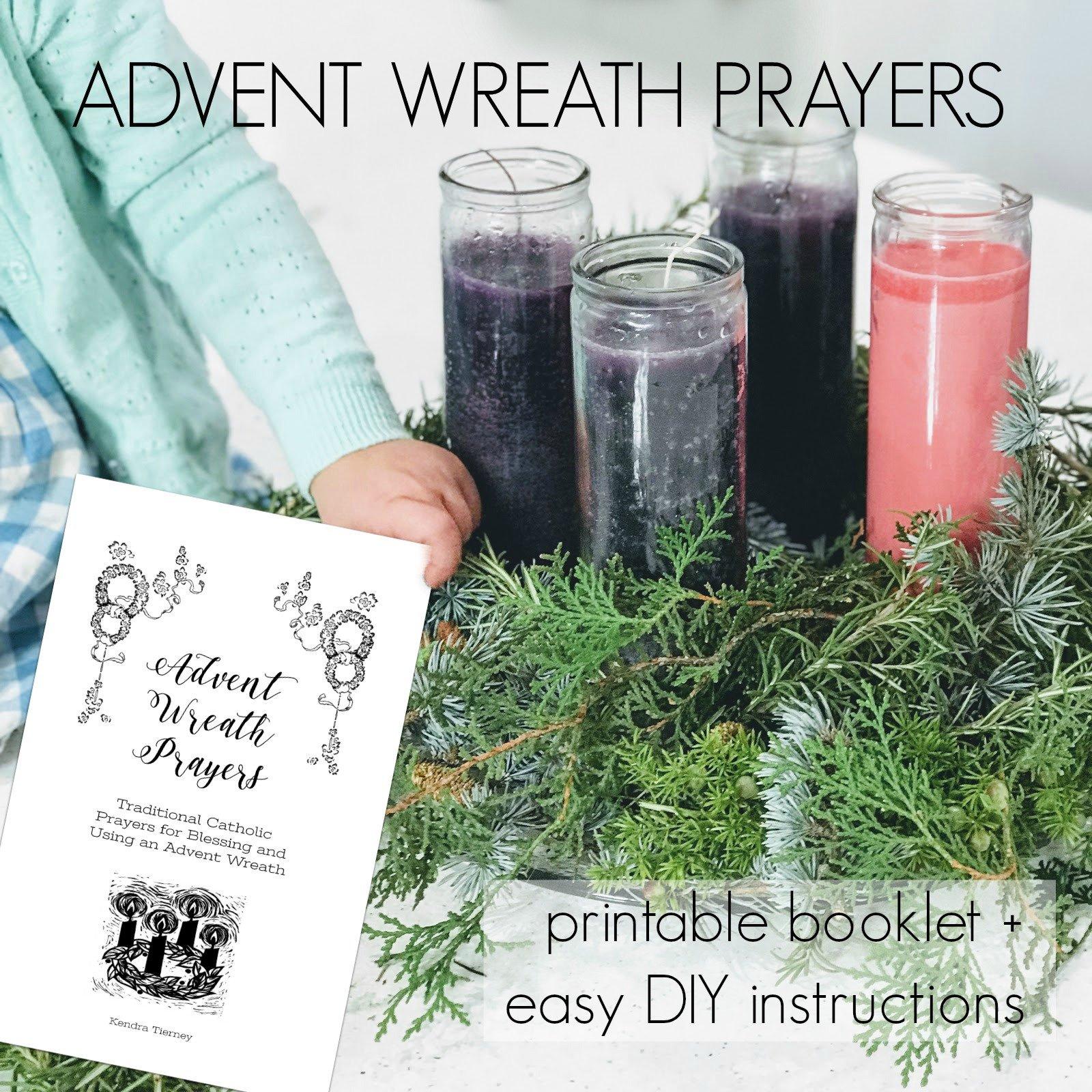 Set Of Three Printable Booklets Advent Wreath Prayers