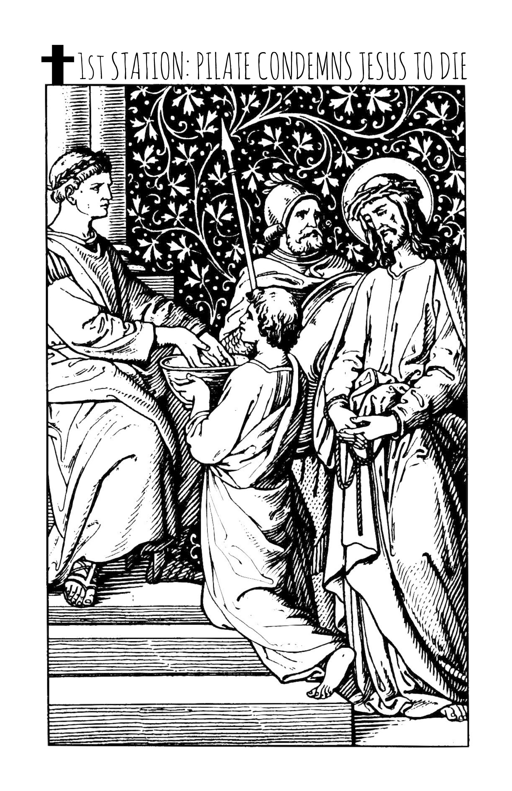 Stations Of The Cross Printable Coloring Book Coloring