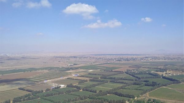 View from the Golan Heights in the direction of Syria