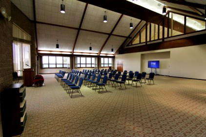 Our large conference room (Dogwood Hall) has a capacity of 215.
