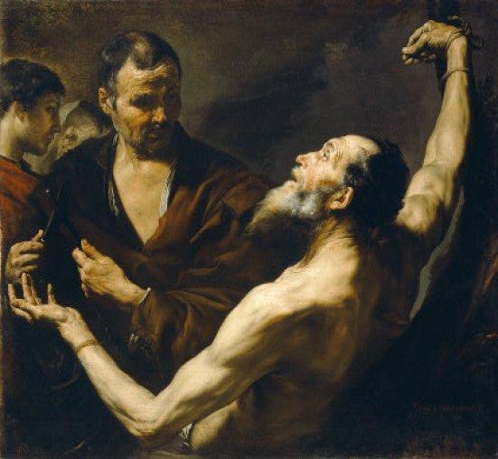 The Martyrdom of Saint Bartholomew by Joseph de Ribera Public Domain Image