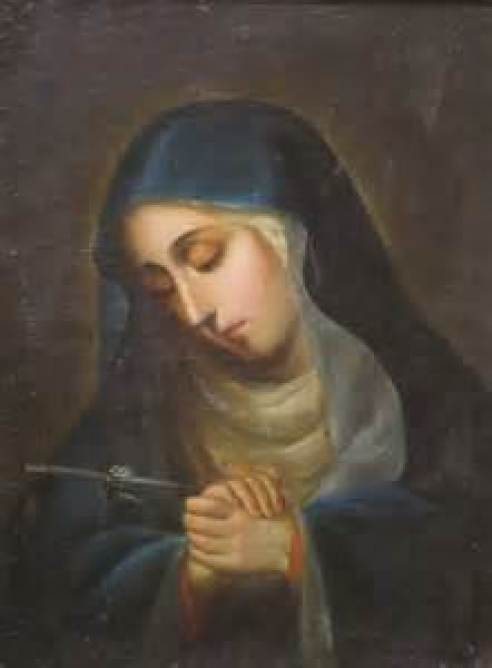 Our Lady of Sorrows Public Domain Image