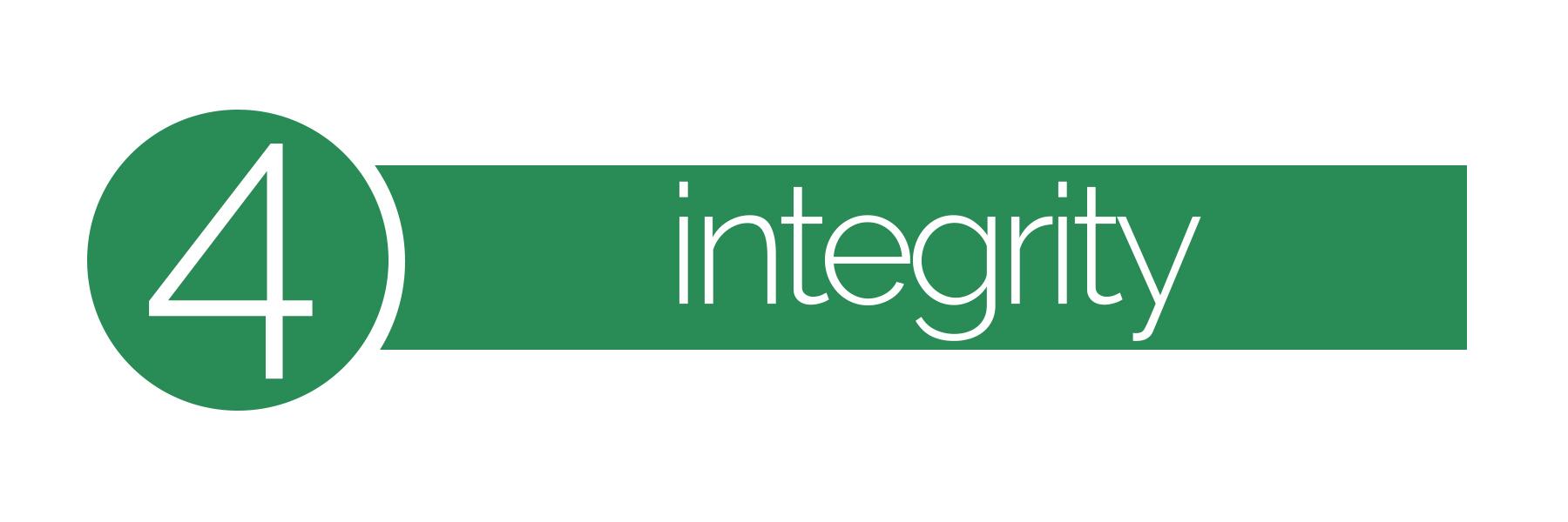 Core values #4 integrity
