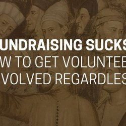 Volunteers fundraising
