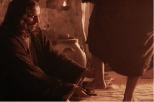 Passion of the Christ - Jesus washing feet