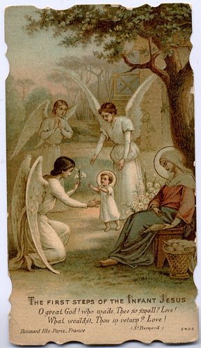 The first steps of the Infant Jesus