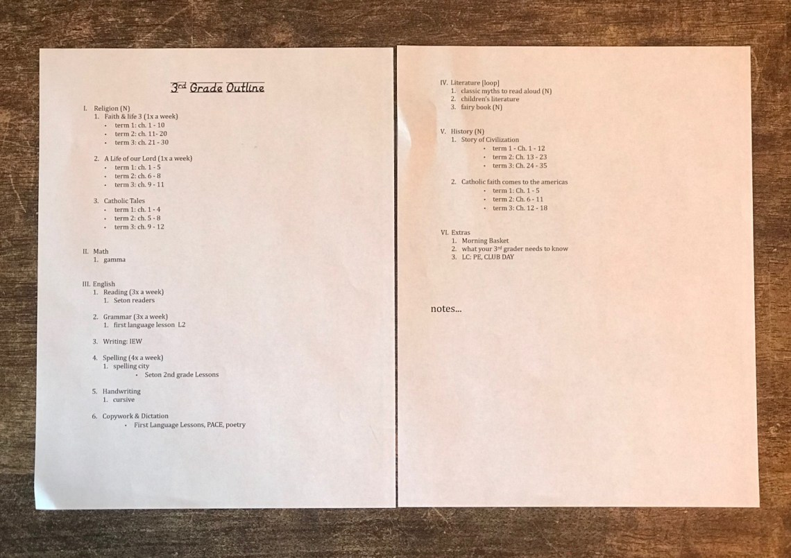 3rd Grade Outline(1)
