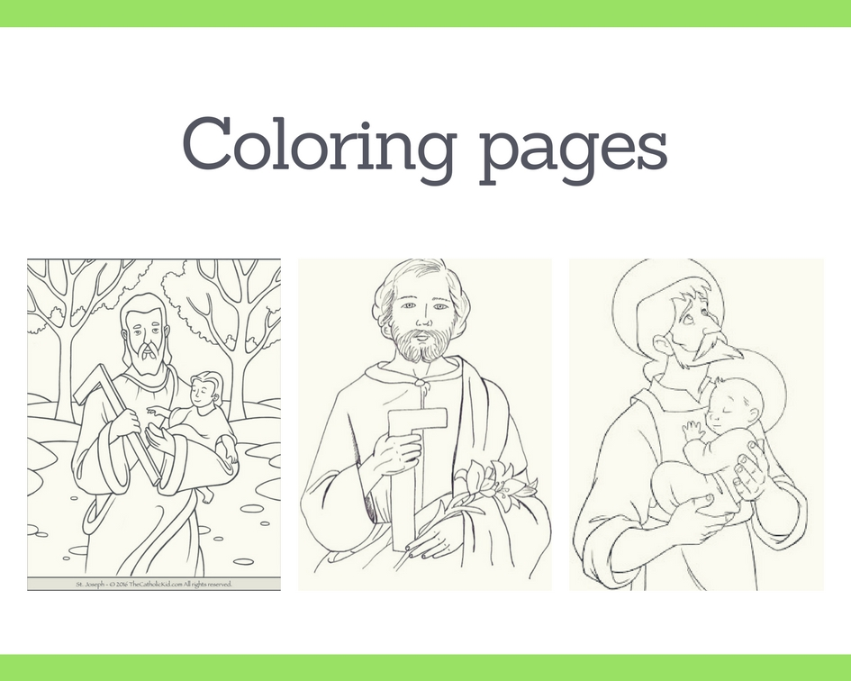 List of Saint Joseph Coloring Pages