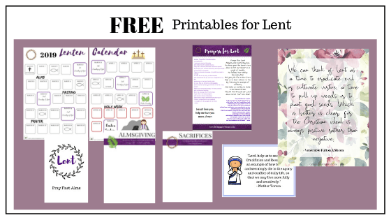 Catholic printables for Lent
