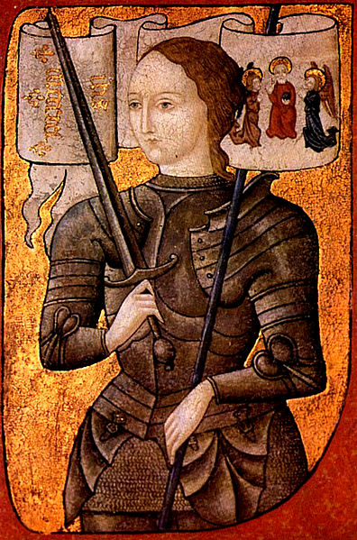 Saint Joan of Arc, oil on parchment, from 1450 to 1500 (source)