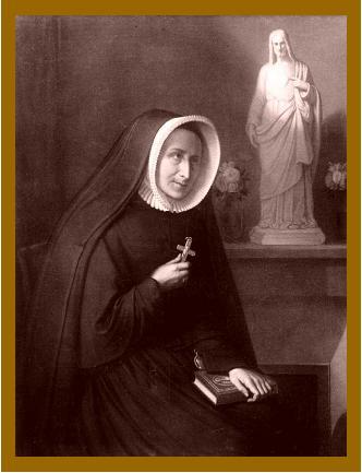 Savinien Petit's portrait of Madeleine Sophie Barat (photo by AntonyB: details)