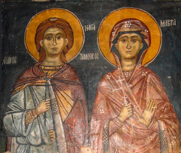Saints Timothy and Maura (source)