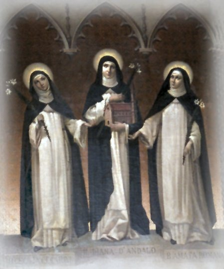 Holy Dominican Trio: Bl. Cecilia, Bl. Diana, and Bl. Amata (courtesy of the Dominican Nuns of Summit, N.J.)