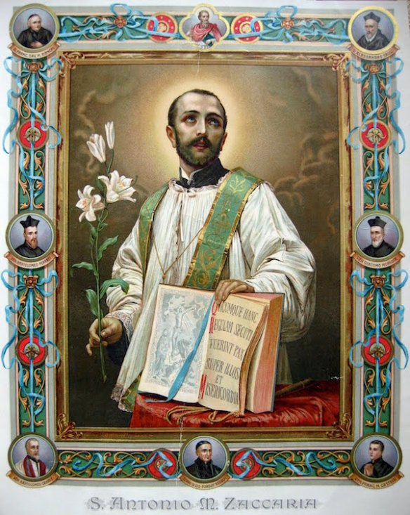 Anthony Mary Zaccaria with other Saints, blessed, Venerable, and Barnabites servants of God (source)
