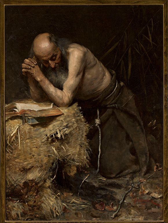 """""""The Anchorite"""" (1881) by Teodor Axentowicz (this is not Roland de Medici, but an unidentified anchorite)"""