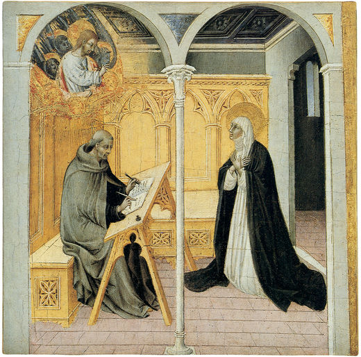 Saint Catherine of Siena dictating to Blessed Raymond of Capua