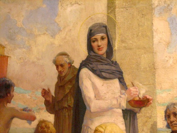 St. Hilda at Hartlepool by James Clark (Oil Painting, detail), photo by Yaffa - Hartlepool Art Gallery - People's Choice - 12 Aug - 17 Sept, 2006, CC BY-SA 2.0, Link