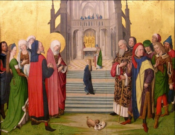 Presentation of Mary, by the Master of Wilten, between 1460 and 1465 (source)