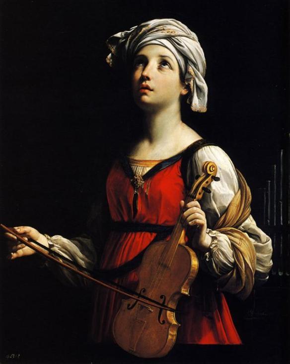Saint Cecilia, by Guido Reni, 1606 (source)