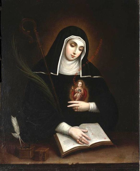 Saint Gertrude, by Miguel Cabrera (1695–1768) source