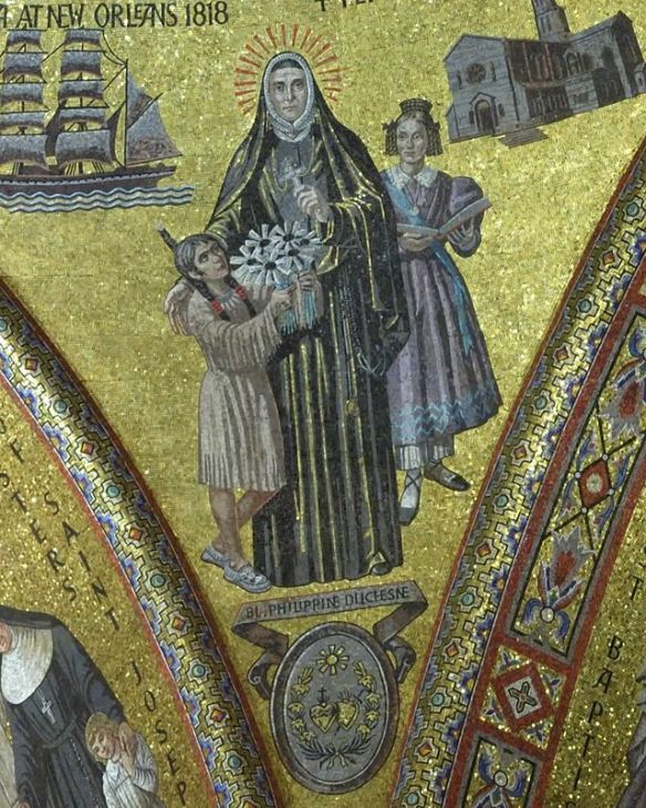 Mosaic of Saint Rose Philippine Duchesne, from the Cathedral Basilica of Saint Louis, Mo. (source)