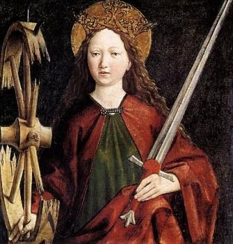 Saint Catherine of Alexandria by Michael Pacher