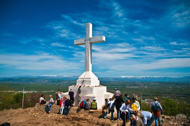 Cross at Križevac Hill in Medjugorje (Creative Commons Attribution 2.0 Generic)