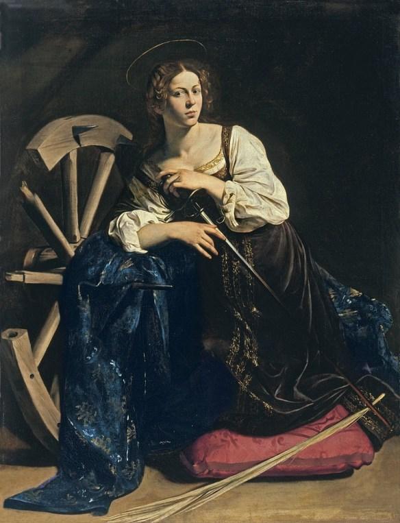 Saint Catherine of Alexandria by Caravaggio