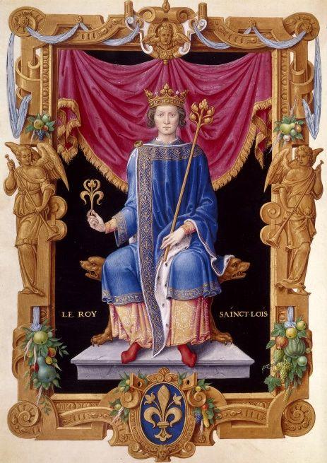 Sant Louis IX, From Recueil des rois de France, by Jean Du Tillet (16th century) source