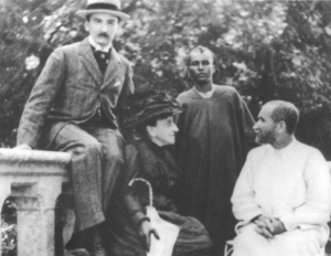 Visiting France with Ouksem, a young African. Madame de Bondy is seated.