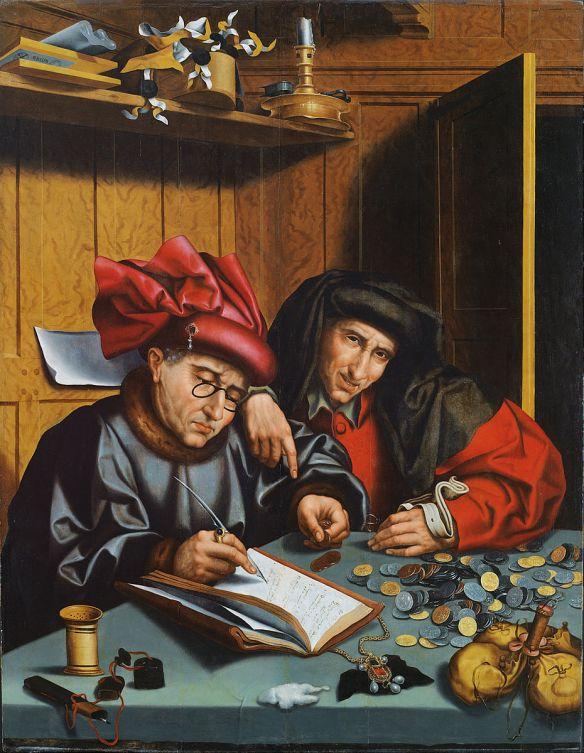 Marinus van Reymerswaele (Follower of) - The Money Changers - Google Art Project (source)