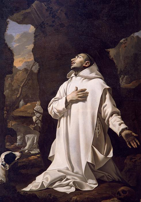 Saint Bruno Praying in the Desert, by Nicolas Mignard