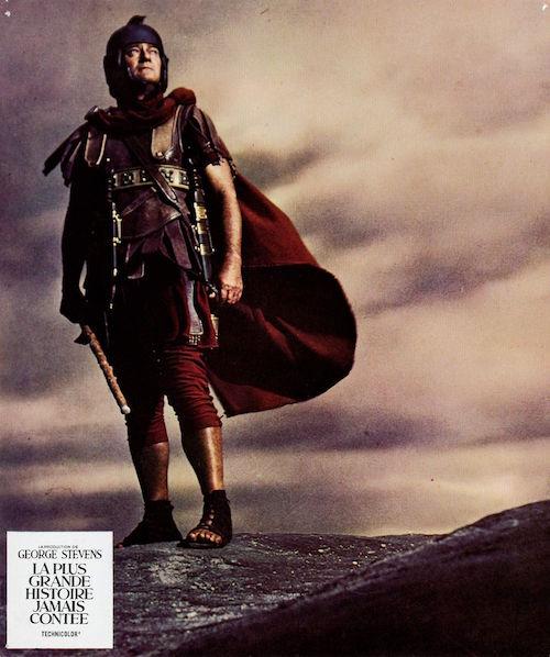 John Wayne as Saint Longinus in The Greatest Story Ever Told (1965)