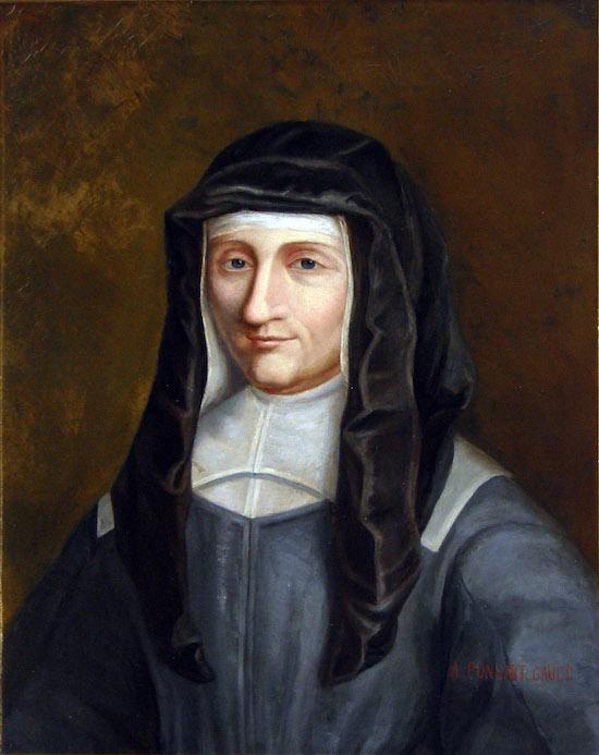 Louise de Marillac, portrait by Ponsart-Gault. Original in the Vincentian Mother House in Paris (Image courtesy Vincent de Paul Image Archive, DePaul University)