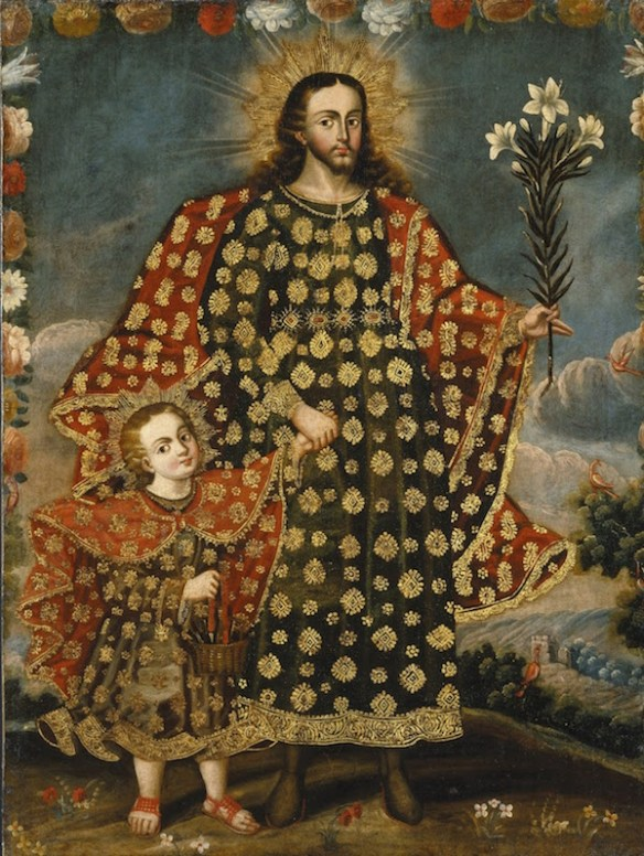 Cusco School Artist, Saint Joseph and the Christ Child (credits/details)