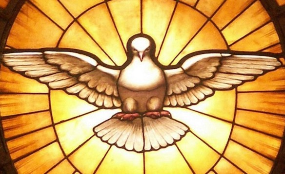 Depiction of the Christian Holy Spirit as a dove, by Gian Lorenzo Bernini, in the apse of Saint Peter's Basilica