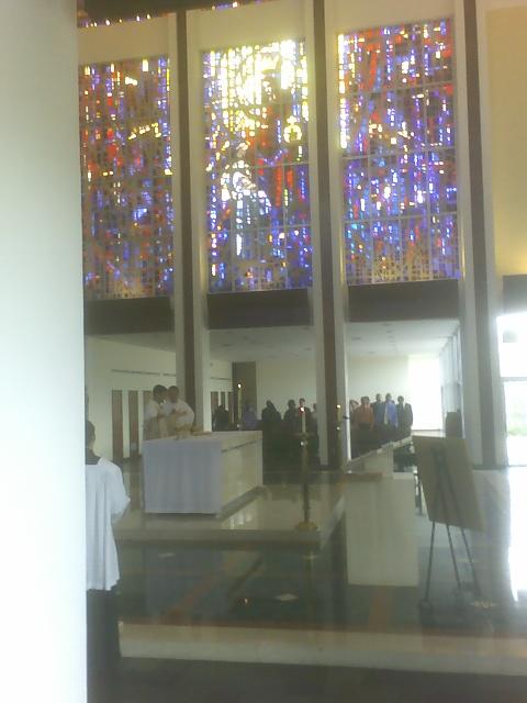 Serra Club alter server Mass @ St John Vianney College Seminary, Miami, FL