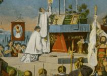 first Thanksgiving America Catholic Mass