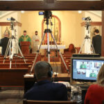 Filming TV Mass at Mater Redemptoris House of Formation