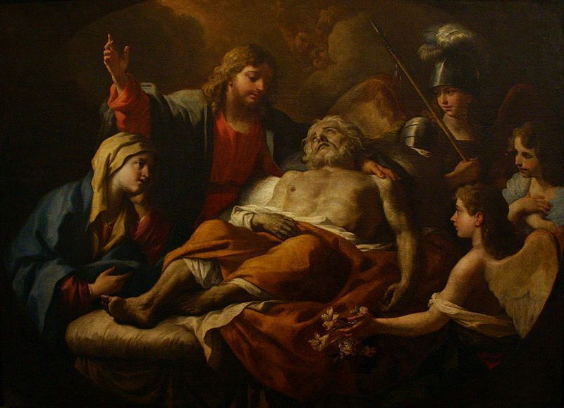 St Joseph on his deathbed