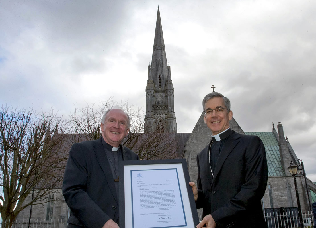 Papal Nuncio, Archbishop Charles Brown presents the official blessing from Pope Francis to the Diocese of Limerick to support the first Synod