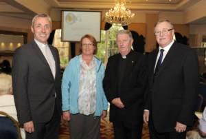Fr Paul Farren, Elma Walsh, Bishop Michael & Barry MacMahon launching John Paul II awards in Meath