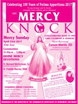 Knock Shrine Divine Mercy Poster 2017
