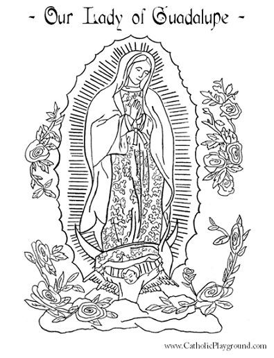 marian coloring pages