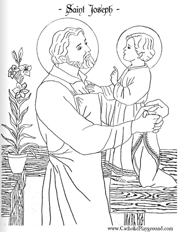 saint joseph coloring page march 19th