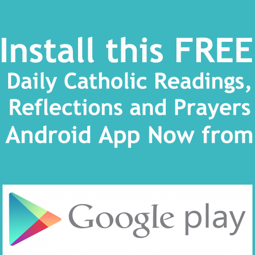 daily catholic readings app installation - download from google play