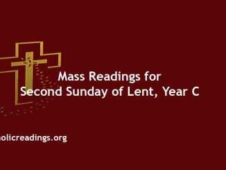 Catholic Mass Readings for Second Sunday of Lent, Year C