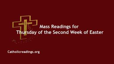 CATHOLIC DAILY MASS READING ONLINE 15TH APRIL 2021